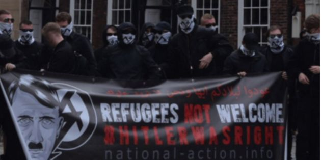 Six people have been arrested over alleged links to banned group National Action, pictured above before...