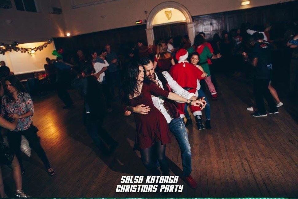 Lauren Steadman with dancing partner Dilshad Hasan at Salsa Katanga Christmas Party
