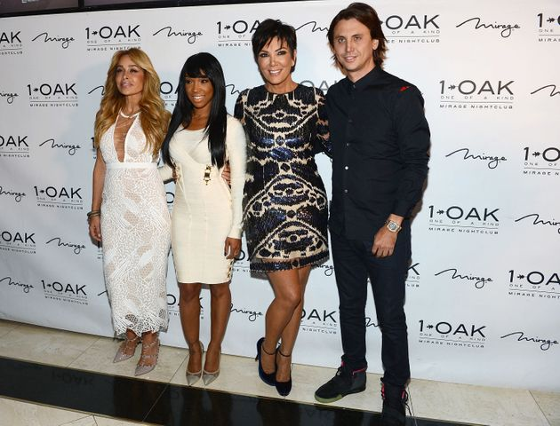 Malika with Faye Resnick(!), Kris Jenner and Jonathan Cheban in Last