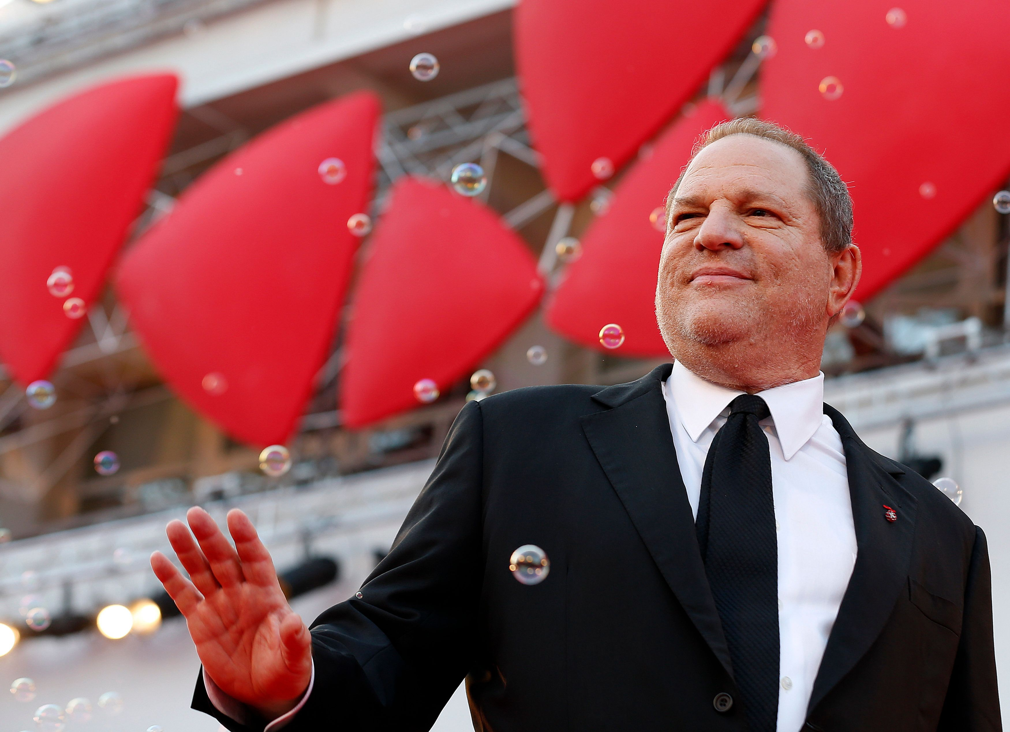 "Producer Harvey Weinstein poses during a red carpet for the movie ""Philomena"", directed by Stephen Frears, during the 70th Venice Film Festival in Venice August 31, 2013. The movie debuts at the festival.   REUTERS/Alessandro Bianchi (ITALY - Tags: ENTERTAINMENT)"