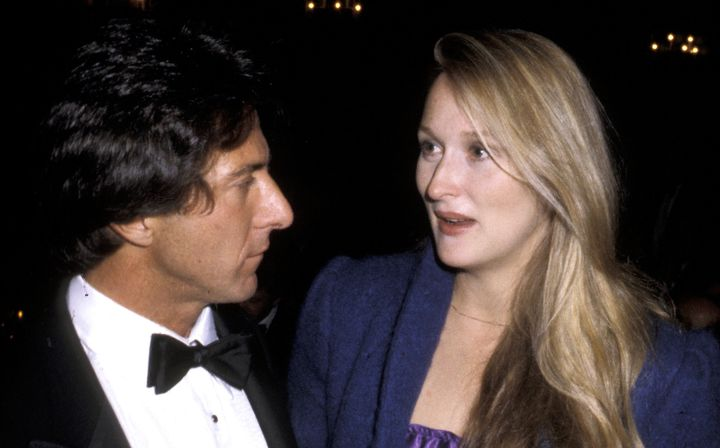 Dustin Hoffman and Meryl Streep pictured together.