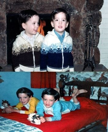 <em>Upper Photo: The Scott Brothers (Age 2) in their hometown of Vancouver, British Columbia </em> <em>Lower Photo: Bedtime f