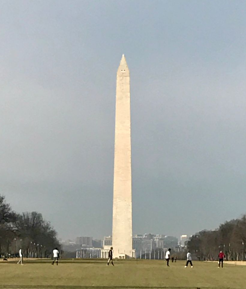 The Washington Monument in December 2017