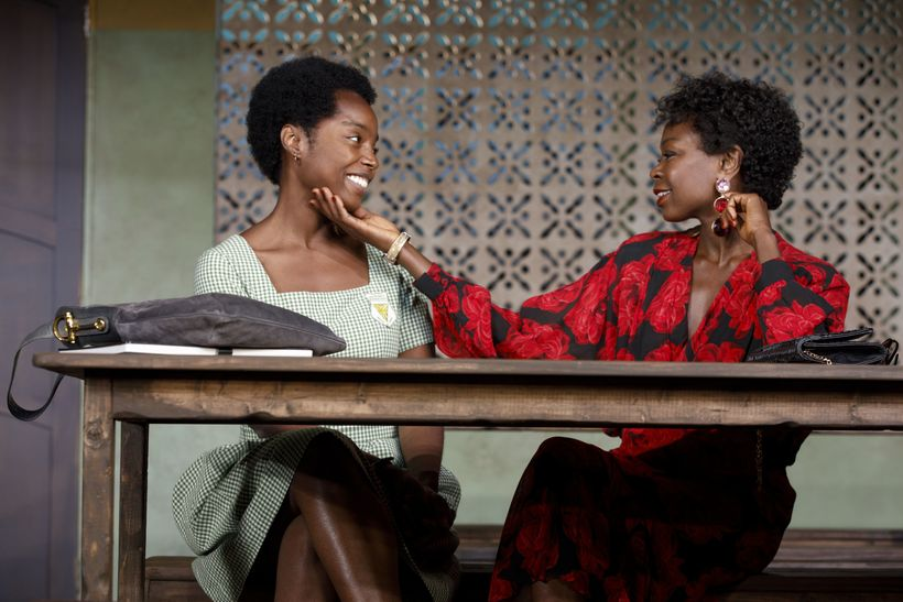 "The cast of ""School Girls; Or, the African Mean Girls Plays."" Left to right: Maame Yaa Boafo and Zainab Jah"