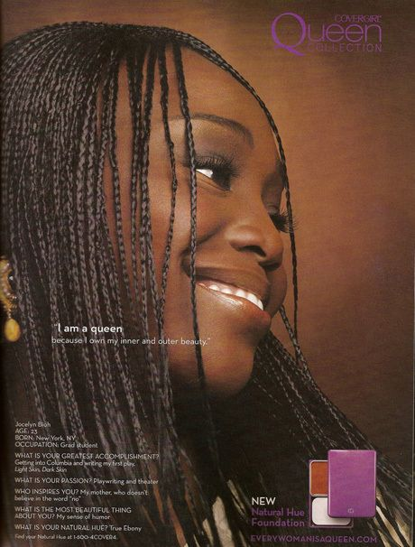 Jocelyn Bioh was among the first group of spokemodels to launch Queen Latifah's COVERGIRL Queen Collection Campaign