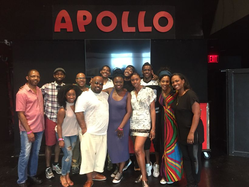 Playwright Jocelyn Bioh and Grammy Award winner CeeLo Green at the Apollo Theater for the Stage Reading of their forthcoming