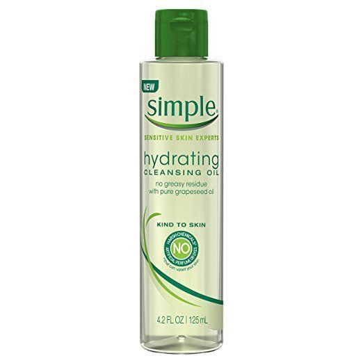 """Formulated with pure grapeseed oil, <a href=""""https://www.amazon.com/Simple-Kind-Skin-Cleansing-Hydrating/dp/B01IR8W0UE/ref=sr"""