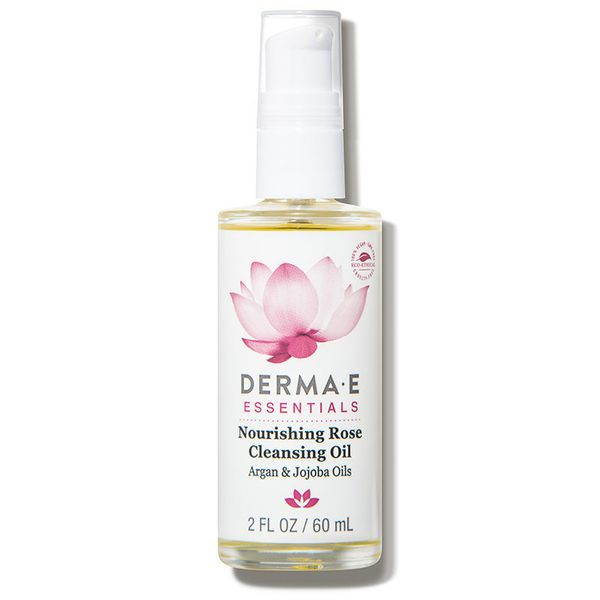 """<a href=""""https://www.dermstore.com/product_Nourishing+Rose+Cleansing+Oil_71225.htm"""" target=""""_blank"""">Derma E's natural cleansi"""