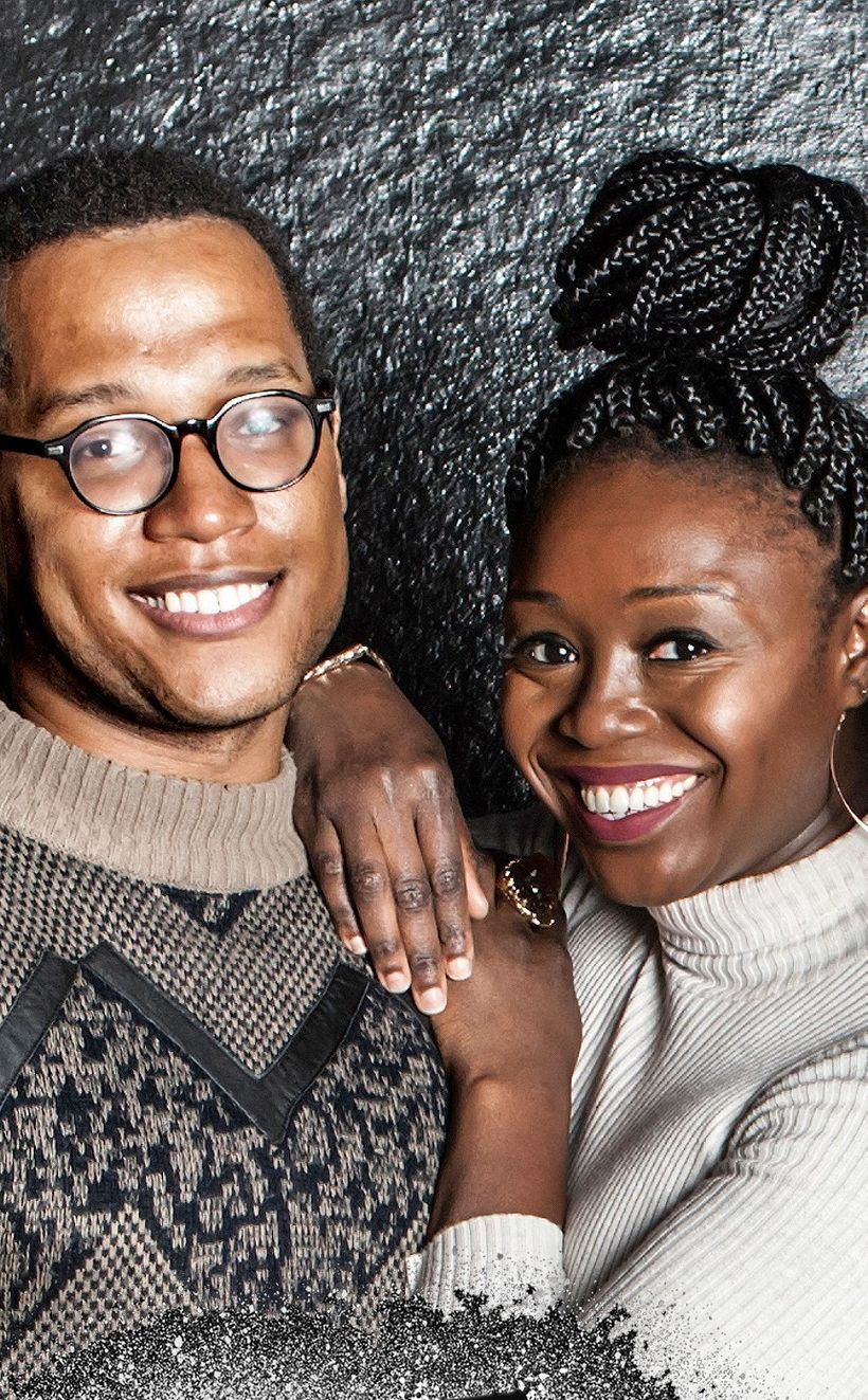 Jocelyn Bioh with her dear friend, acclaimed playwright Branden Jacobs-Jenkins. Jocelyn has starred in two of Branden plays,