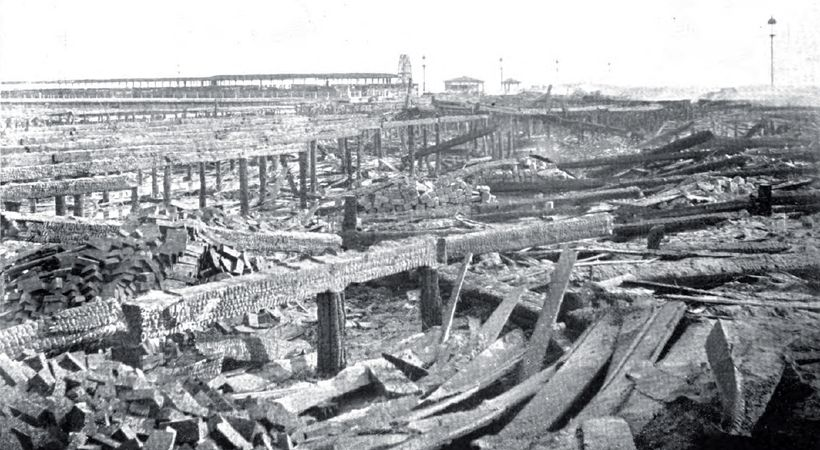 World's Columbian Exposition site post-fire, Jackson Park, Chicago, IL, January 1894.
