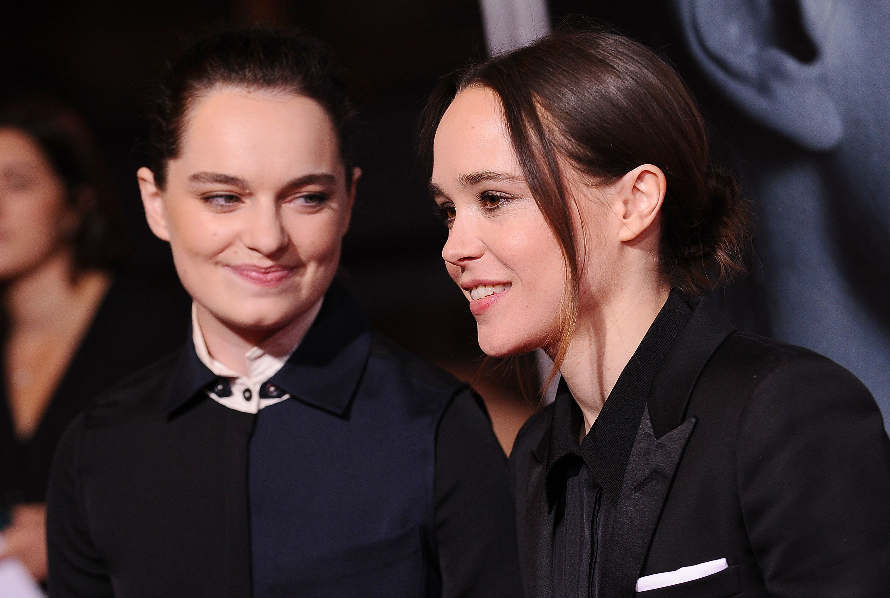Ellen Page (right) and Emma Portner at a film premiere in Los Angeles last September.