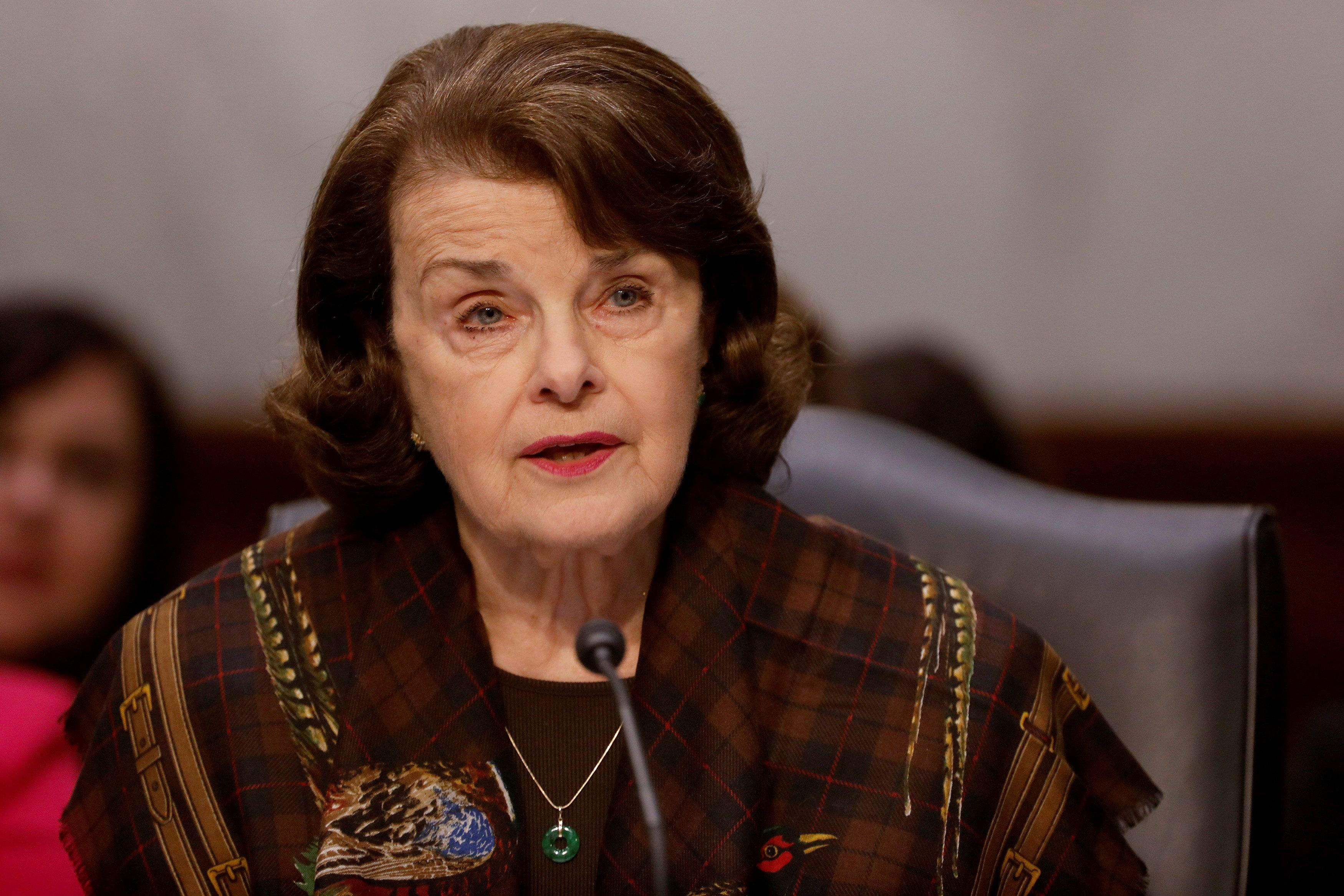 Ranking Member Sen. Dianne Feinstein (D-CA) speaks during a meeting of the Senate Judiciary Committee to discuss the nomination of Judge Neil Gorsuch to the Supreme Court on Capitol Hill in Washington, D.C., U.S., April 3, 2017. REUTERS/Aaron P. Bernstein
