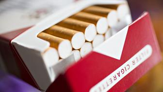 A pack of Philip Morris Marlboro brand cigarettes is arranged for a photograph in Tiskilwa, Illinois, U.S., on Wednesday, July 12, 2017. Philip Morris International Inc. is scheduled to release earnings figures on July 20. Photographer: Daniel Acker/Bloomberg via Getty Images