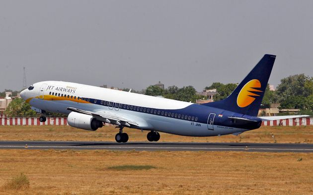 A Jet Airways passenger plane takes off from Sardar Vallabhbhai Patel International Airport (file