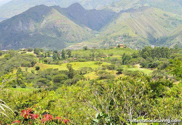 View of the mountains, Vilcabamba, Ecuador.