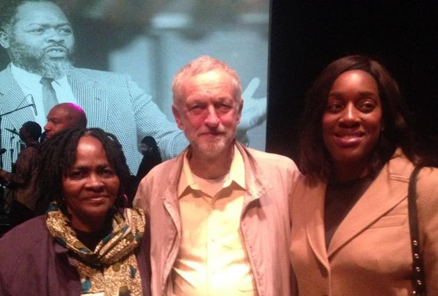 Martha and Kate Osamor with Jeremy Corbyn at the Bernie Grant Centre in