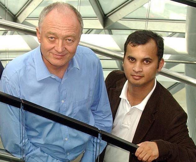 Ken Livingstone and Murad Qureshi at London'sCity Hallin