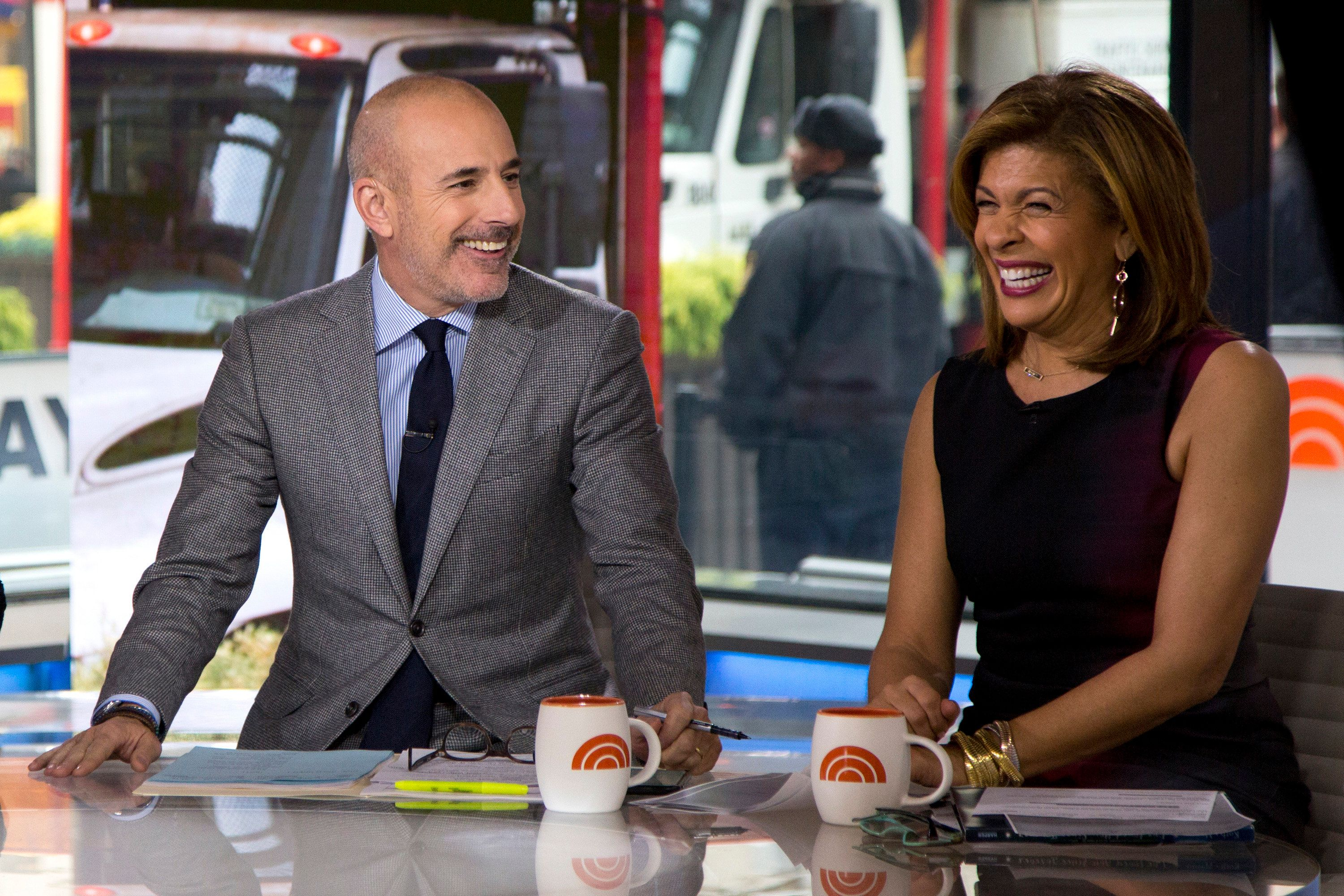 TODAY -- Pictured: Matt Lauer and Hoda Kotb on Tuesday Nov.14, 2017 -- (Photo by: Zach Pagano/NBC)