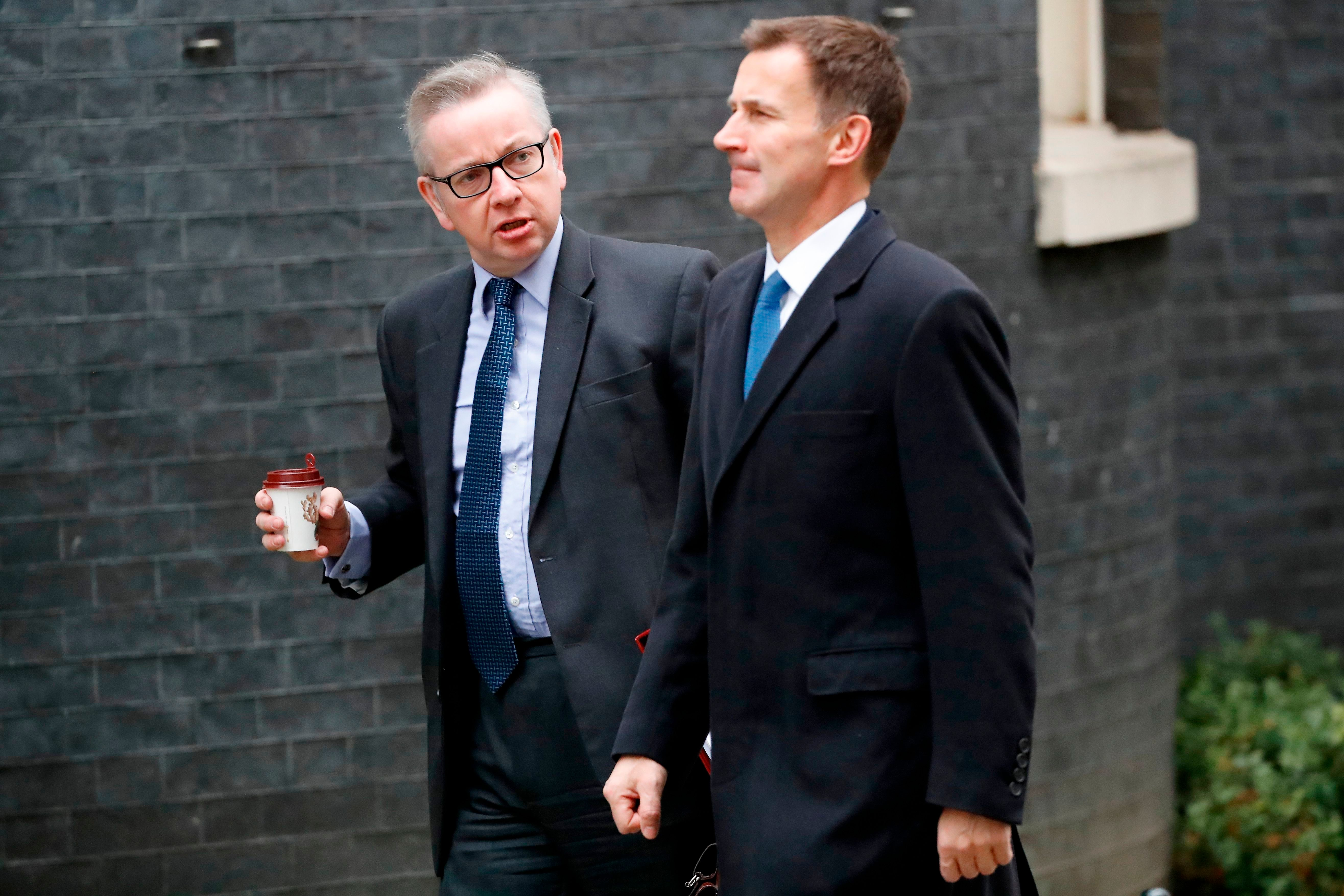 Britain's Environment, Food and Rural Affairs Secretary Michael Gove was spotted carrying a takeaway coffee on his way to a weekly Cabinet meeting in December.