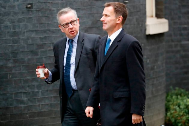 Britain's Environment, Food and Rural Affairs Secretary Michael Gove was spotted carrying a takeaway...