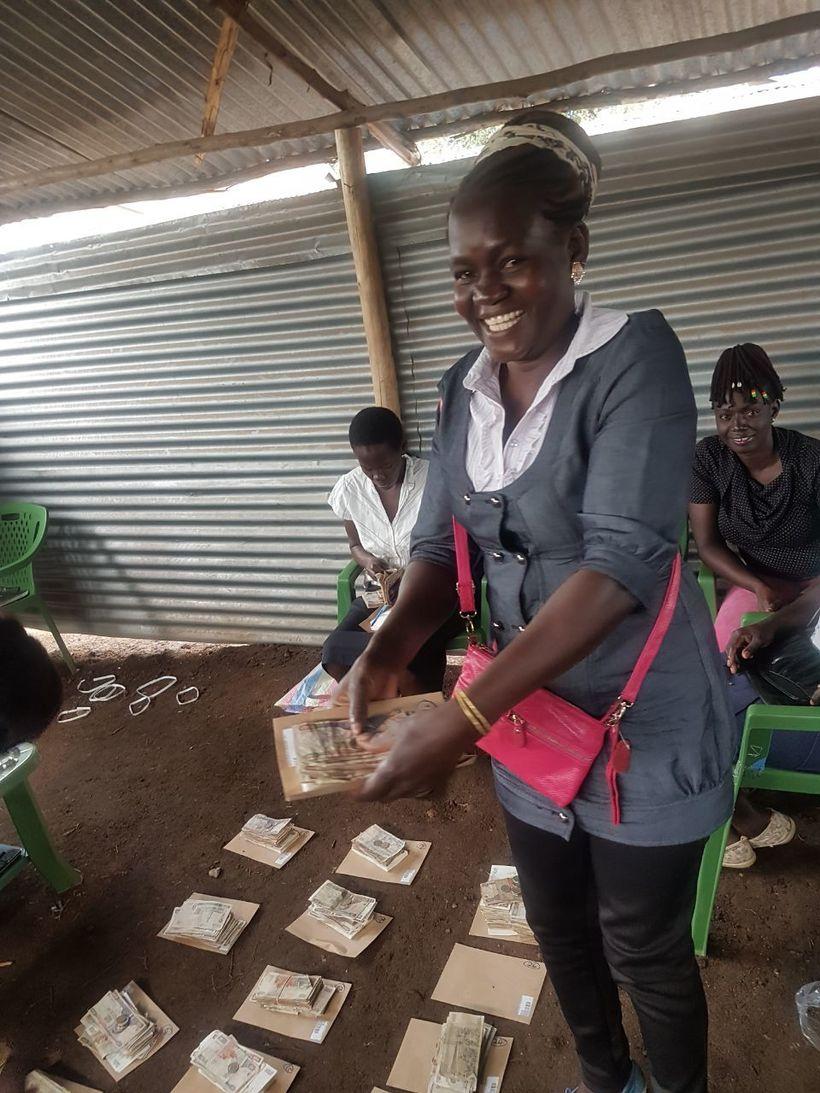 WomenStrong Consortium Member AVFP's Group Savings & Loan Member preparing to distribute group savings at the end of 2017