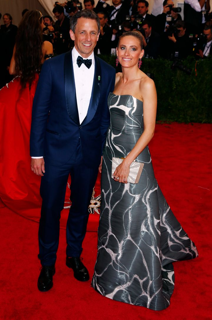 Seth Meyers and wife Alexi Ashe at the Met Gala in 2015.