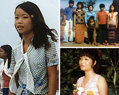 Left: Me, age 15, at the beach in Mairut, Thailand. This was the first time refugees were allowed out of camp. Top: Me, age 1