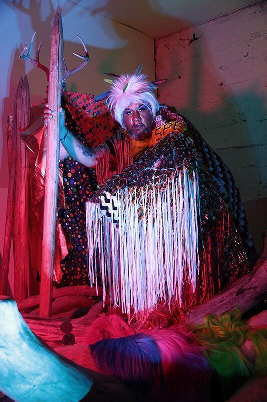 <em>The Disco Shaman (Jeffrey Gibson)</em>, 2015. Archival pigment print. Courtesy of the artist.