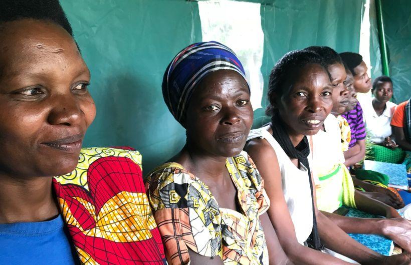 Participants of the Women for Women International programme in Rutunga, Rwanda