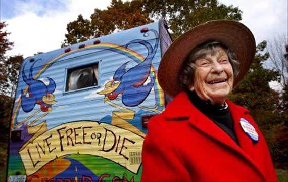 Granny D running for Senate at age 94....