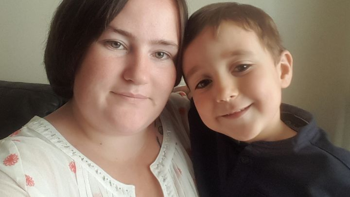 Jessica Smullen and her son Noah.