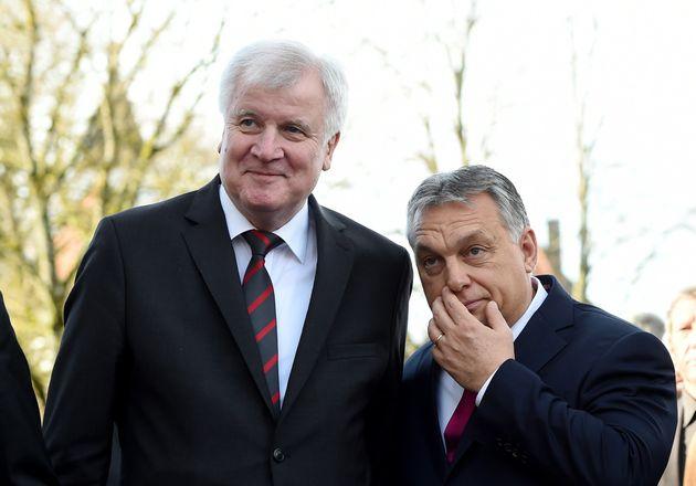 CSU-Parteichef Horst Seehofer und Ungarns Ministerpräsident Viktor Orbán in