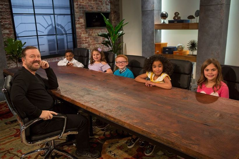 Ricky Gervais with Jecobi, Sophia, Brayden, Jordyn, and Railee on CHILD SUPPORT