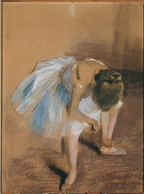 Edgar Degas, <em>Seated Dancer With Hand on Her Ankle (</em>1879)