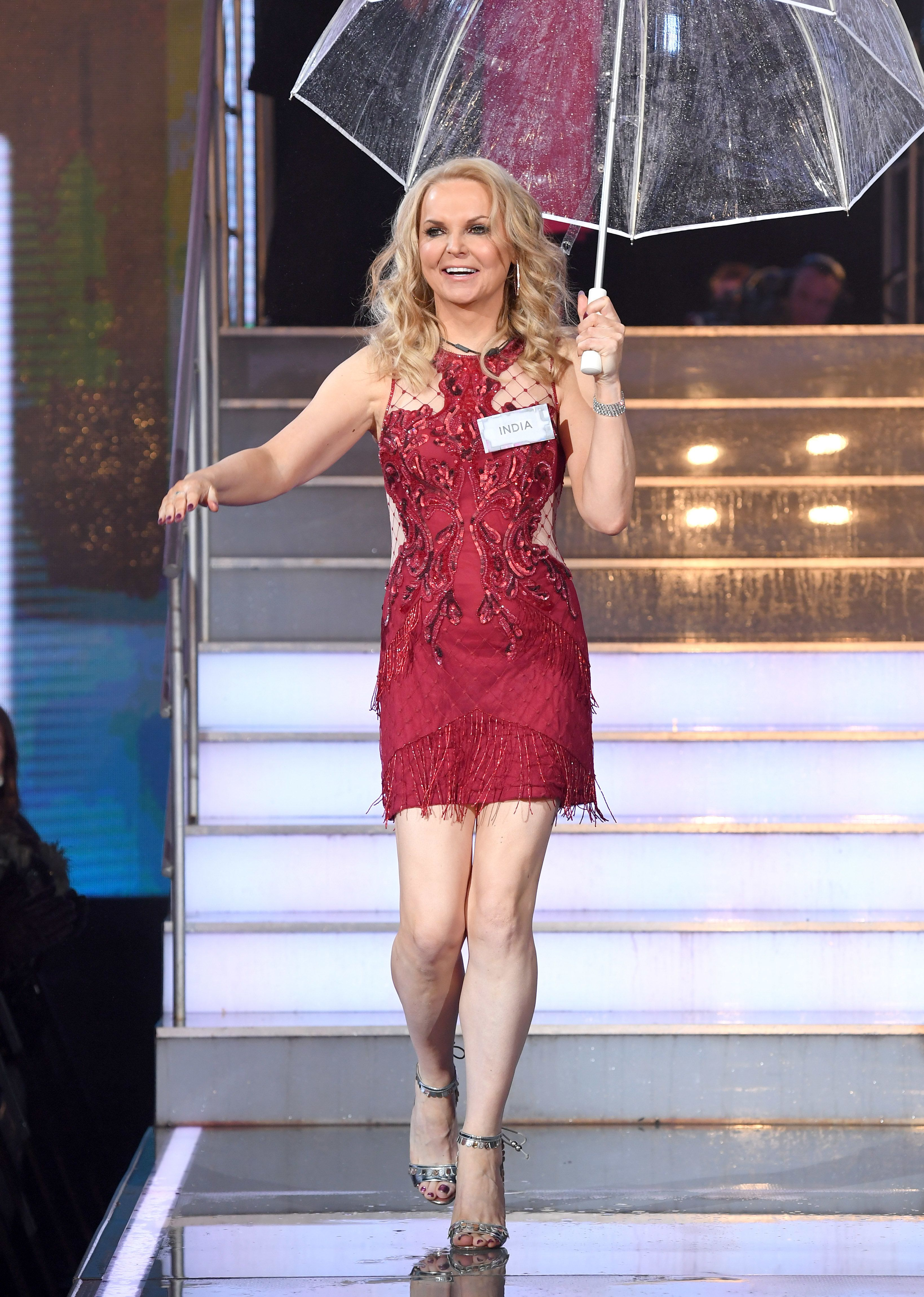 <strong>India Willoughby on 'CBB' launch night</strong>