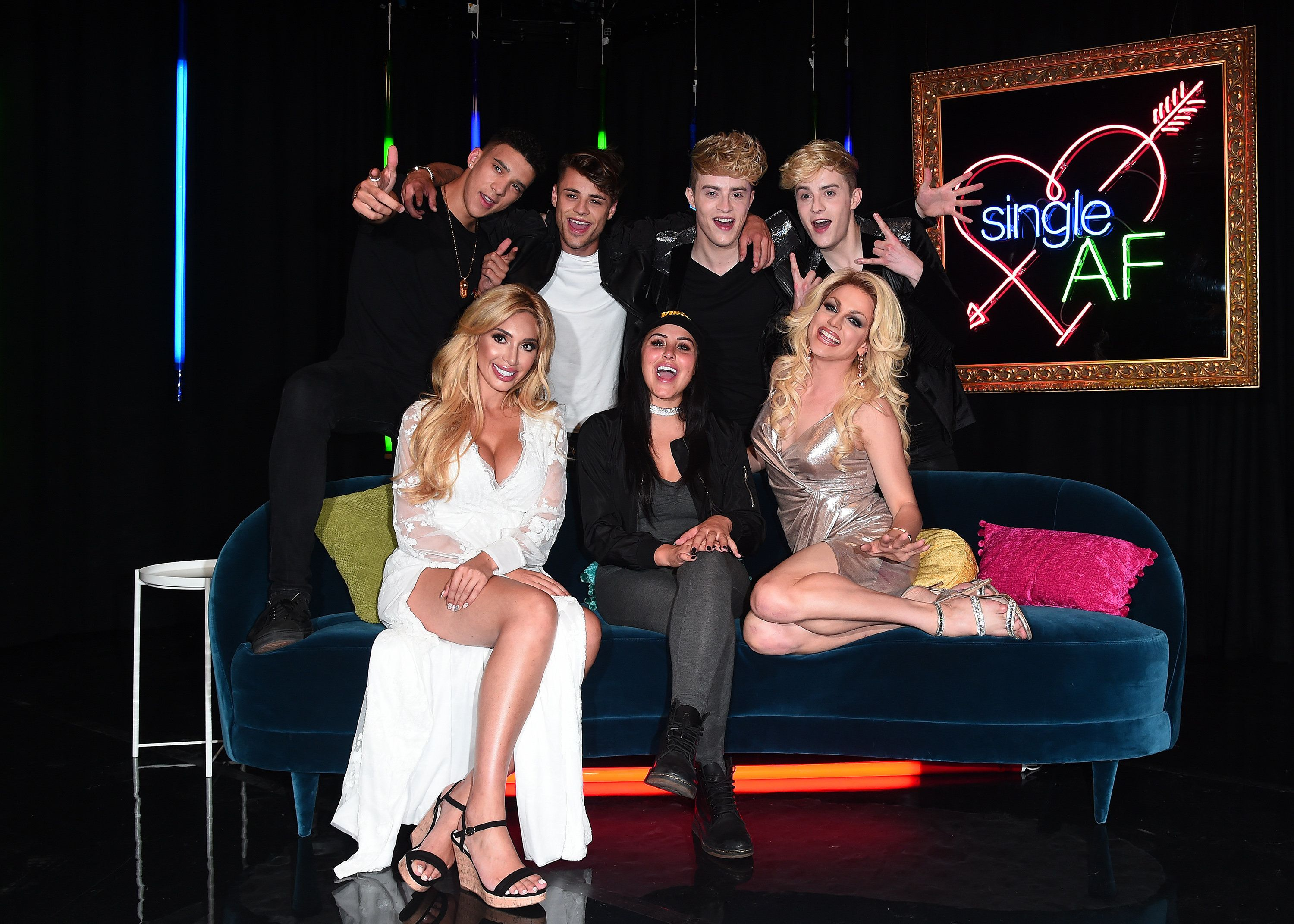 <strong>Courtney and the cast of MTV's dating show 'Single AF'</strong>