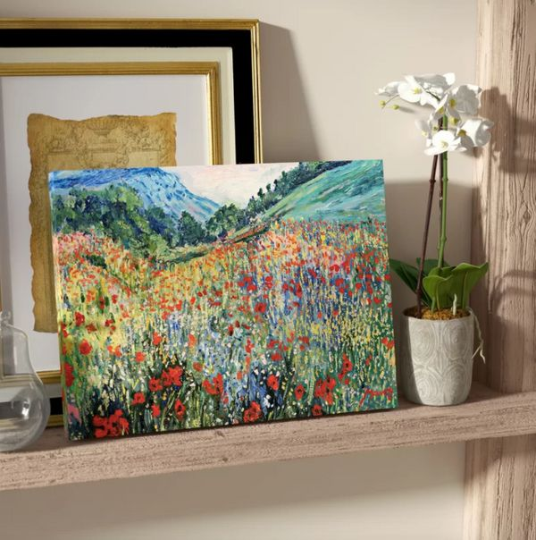 """Get it <a href=""""https://www.wayfair.com/decor-pillows/pdp/charlton-home-field-of-wild-flowers-painting-print-on-wrapped-canva"""