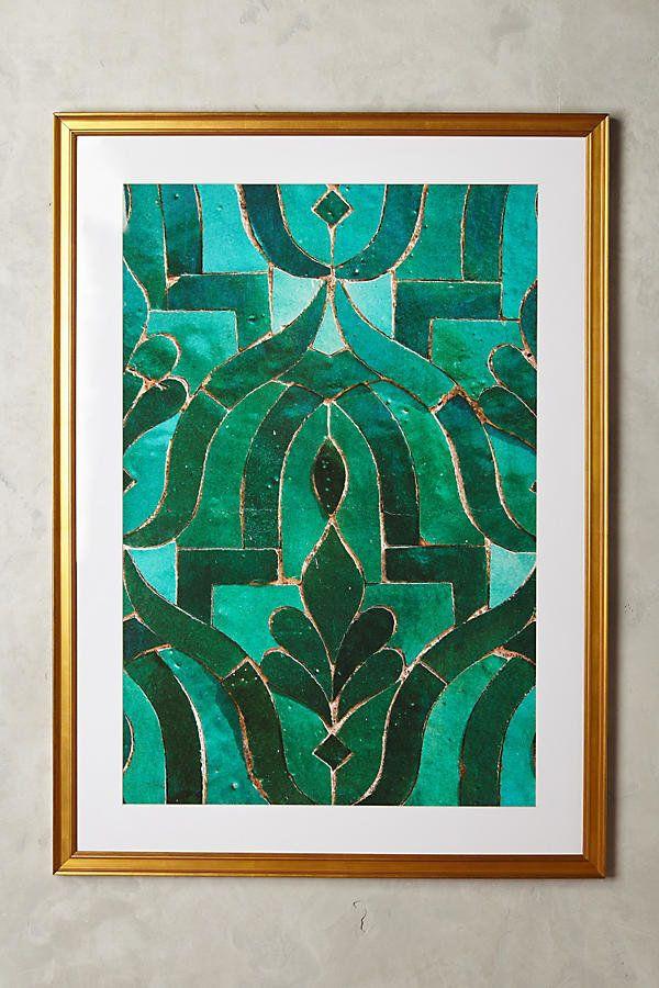 "Get it <a href=""https://www.anthropologie.com/shop/moroccan-tile-wall-art?category=decor-art&color=099"" target=""_blank"">h"