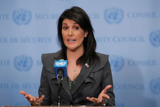 U.S. Ambassador to the United Nations Nikki Haley speaks at the U.N. headquarters in New York, Jan. 2,