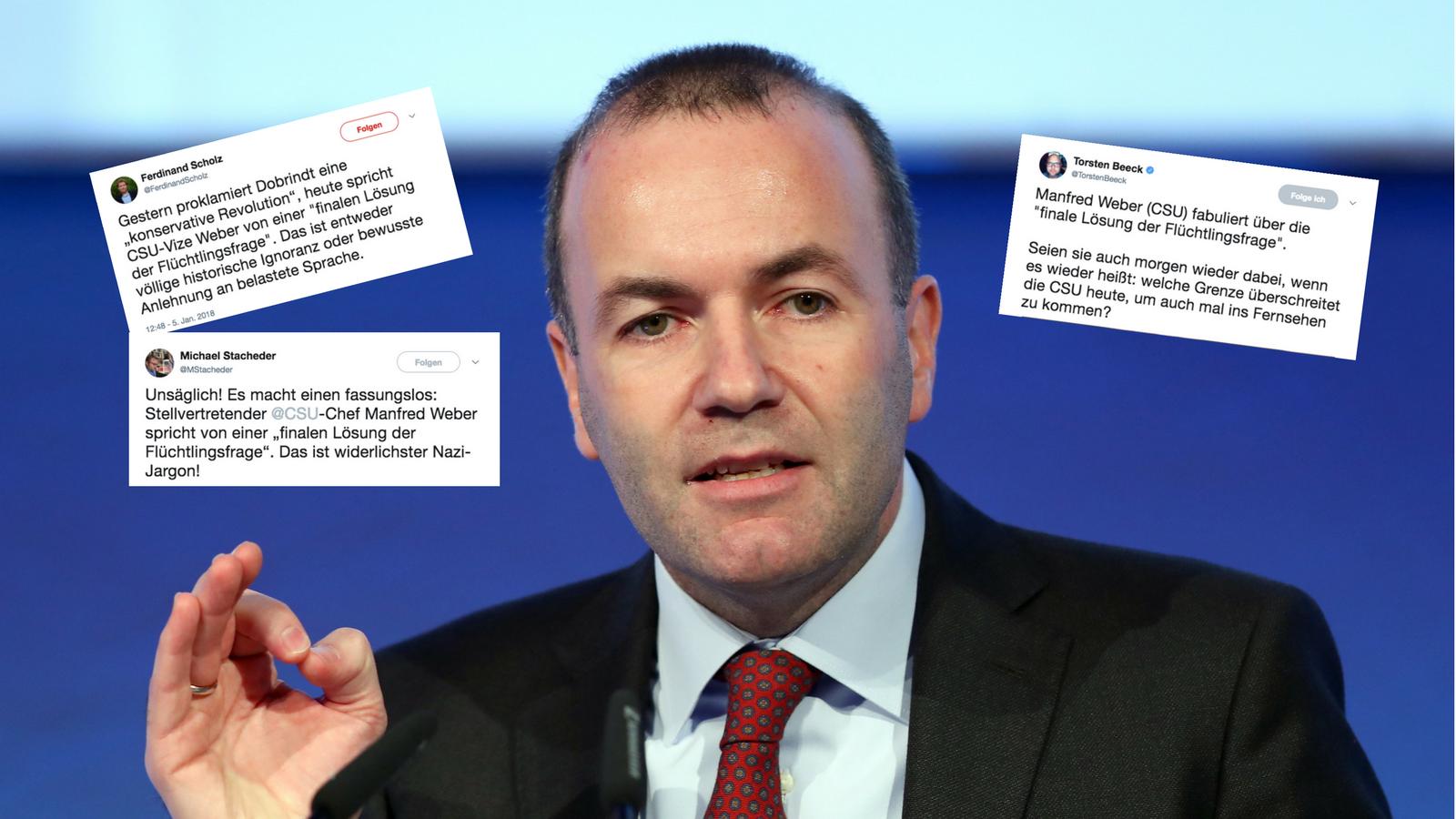 Aussage von CSU-Politiker Weber sorgt für Kritik