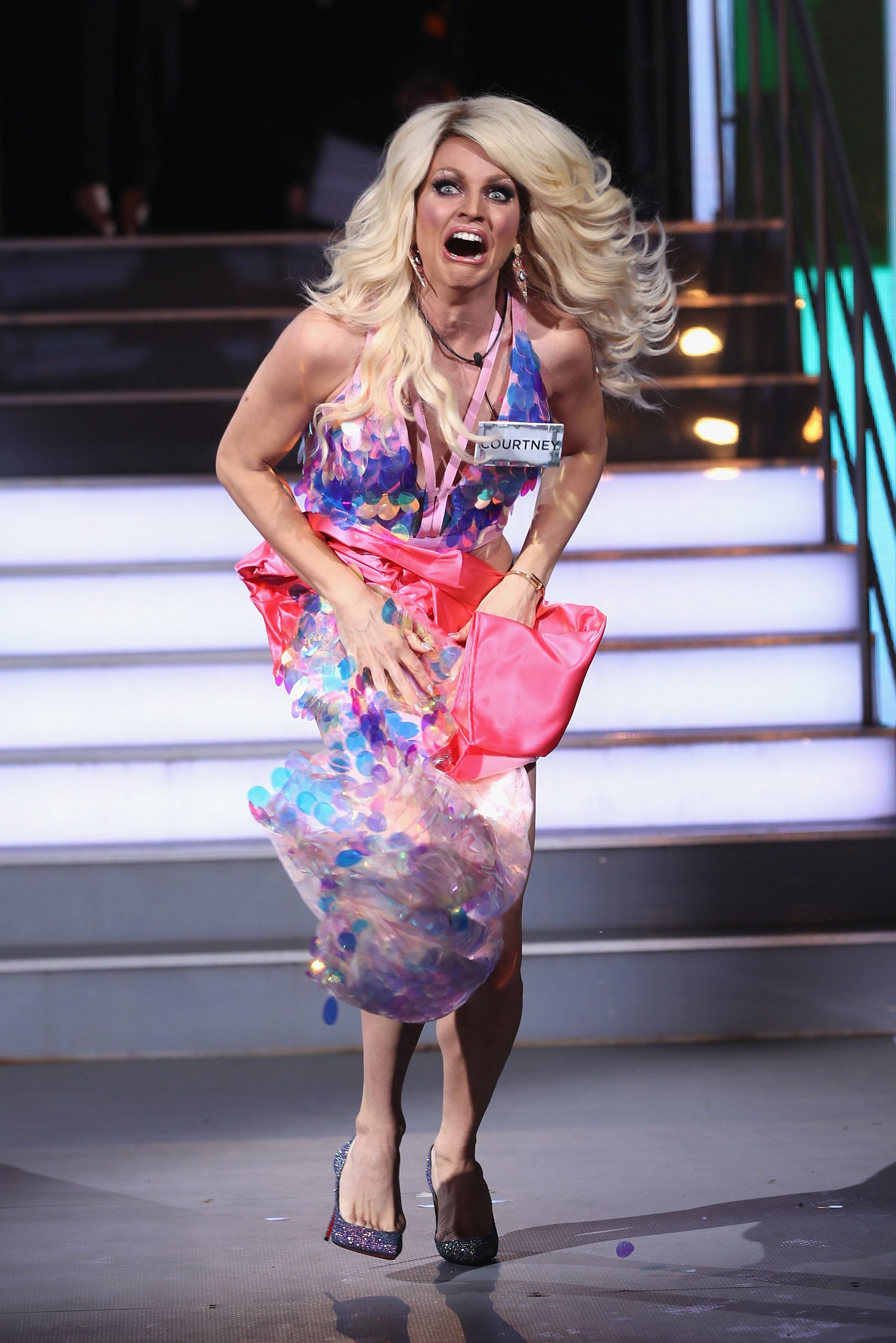 Courtney Act Flashes Everyone After Suffering The Mother Of All Wardrobe Malfunctions During 'CBB'