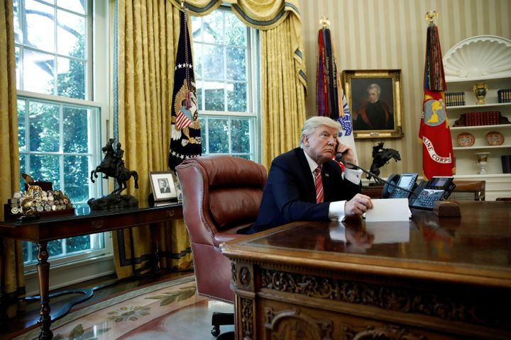 President Donald Trump in the Oval Office on June 27, 2017.