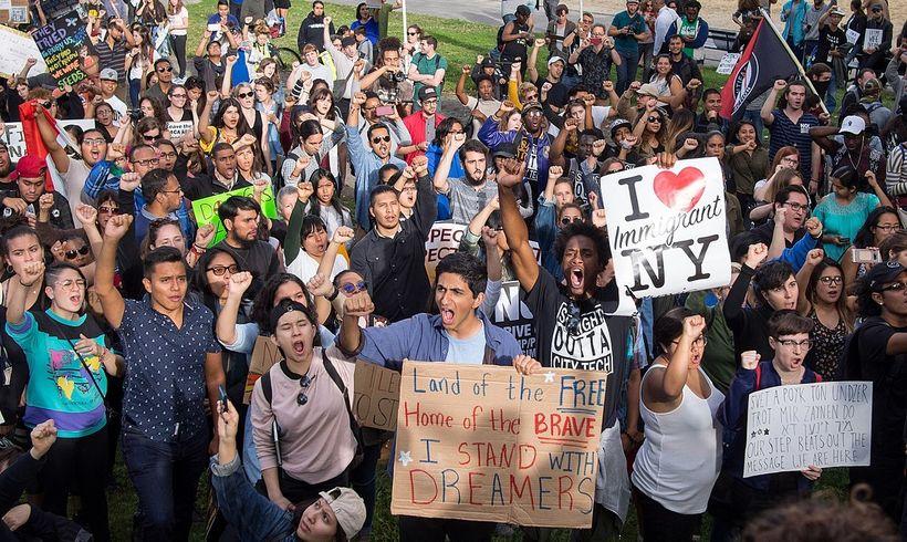 DACA protest at Columbus Circle.