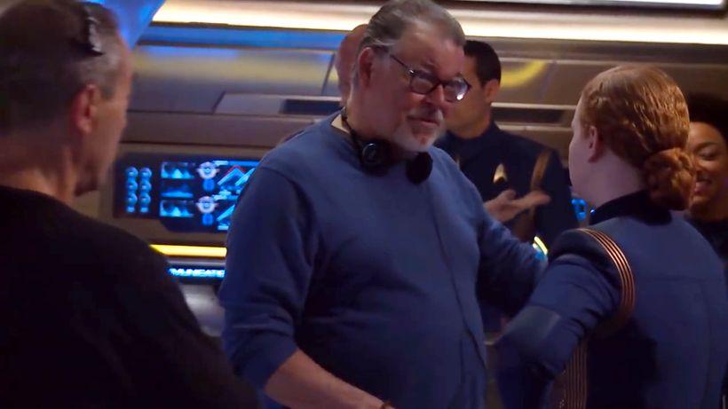 Jonathan Frakes on the set of Star Trek: Discovery.