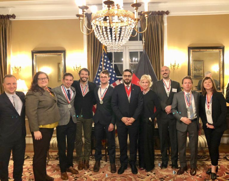 (Amb. Mohib, Coach Kathy Kemper and the Presidential Innovation Fellows)