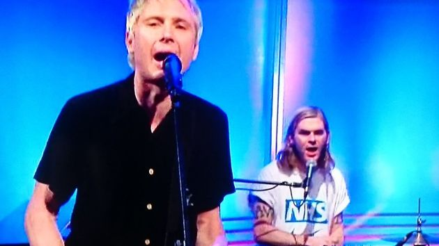 Franz Ferdinand performed on the Andrew Marr Show and had something to say to Theresa