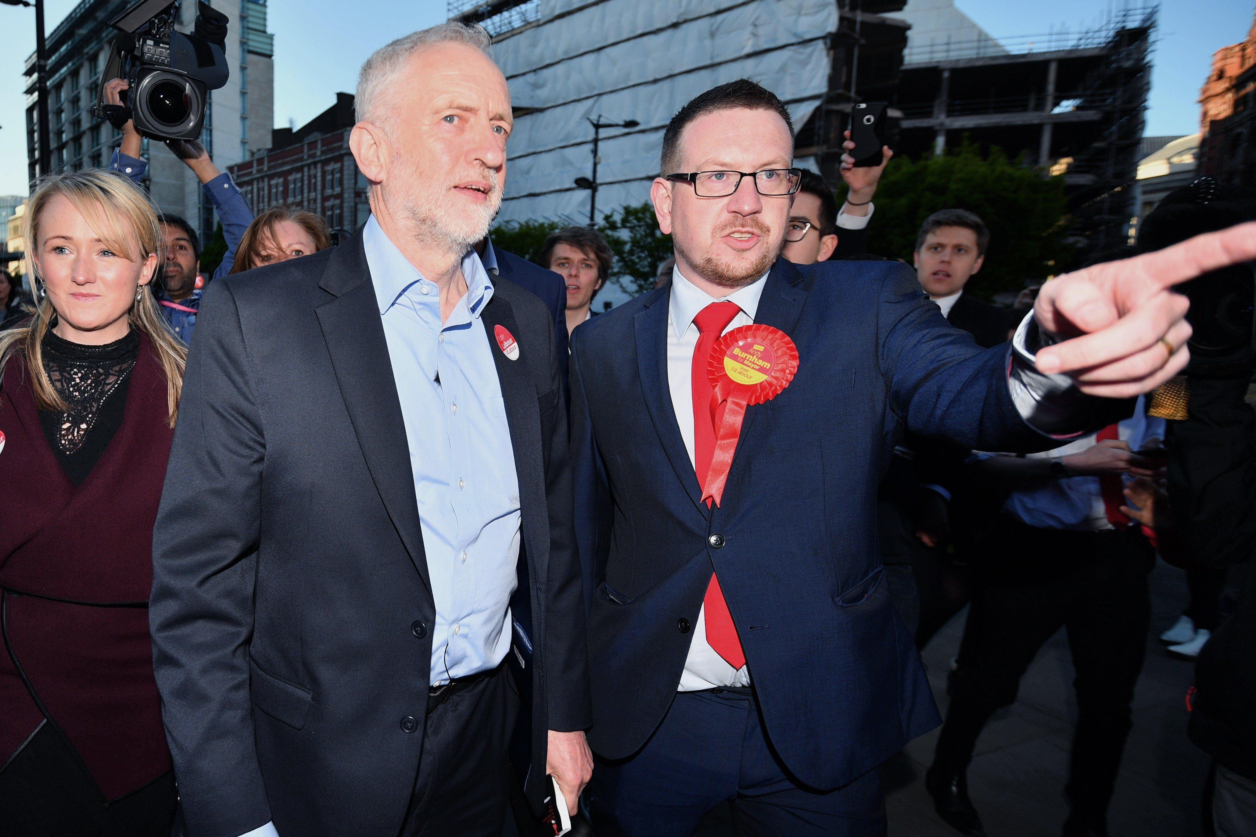 Jeremy Corbyn with Andrew