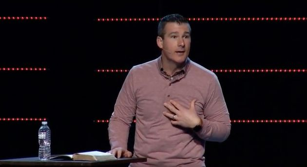 Highpoint Church's Teaching Pastor Andy Savage delivering a sermon in