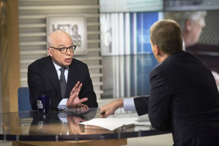 """""""Fire and Fury"""" author Michael Wolff on Sunday spoke about concerns he said were expressed to him within the White House abou"""