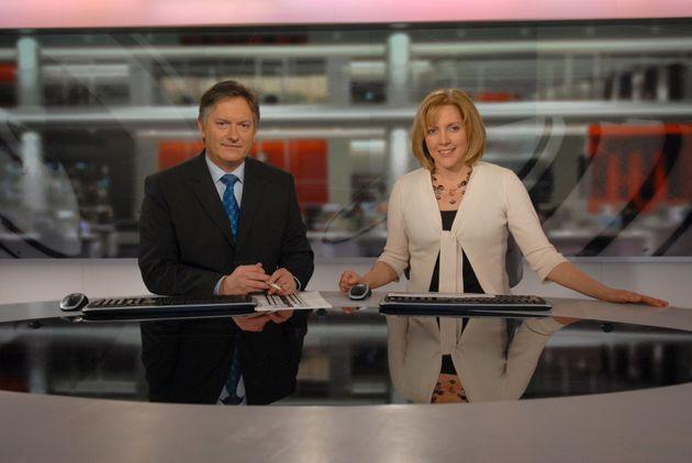 Carrie Gracie with BBC Newscolleague Simon McCoy in
